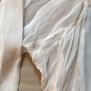 9359a07af2398 Whitewash Tops - Sheer blouse